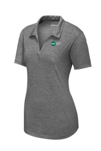 Ladies Tri-Blend Wicking Polo (Gray)