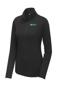 Ladies Tri-Blend Wicking 1/4 Zip (Black)