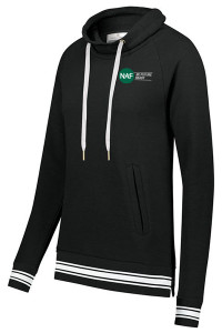 Ladies Ivy League Funnel Neck Pullover (Black)