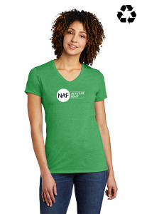 Allmade Ladies V-neck Tee (Green)