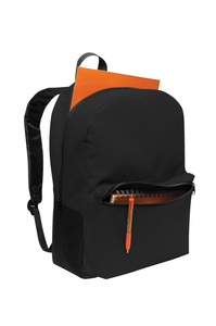 Open view of Embroidered Value BackPack
