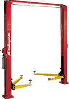 CHALLENGER lifts 10,000 lb capacity Two Post Lift, Red