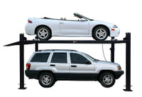 CARLIFT CL-4-8K-DX-XLT 8,000LB DELUXE STORAGE LIFT EXTENDED LENGTH.HEIGHT-POLY CASTERS,DRIP TRAYS,JACK TRAY INCLUDED
