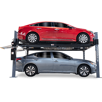 BENDPAK GP-9XLT 9,000-lb  Capacity / High Lift / Extended Length / Includes  Aluminum Ramps, Caster Kit, Jack Platform and Drip Trays