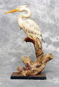 "Wood Look ""Heron on Driftwood"""