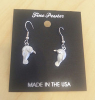 Manatee Fine Pewter Earrings