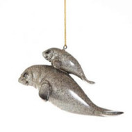 Manatee (Mom and Baby) Hanging Ornament