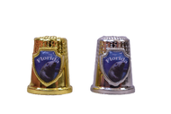 Silver and Gold Colored Thimbles w/ Manatee Shield