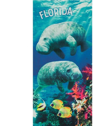 Florida Manatee Beach Towel