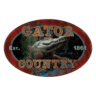 "Tin Sign -12"" x 17"" Gator Country"