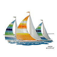 Tropical Regatta Metal Wall Art