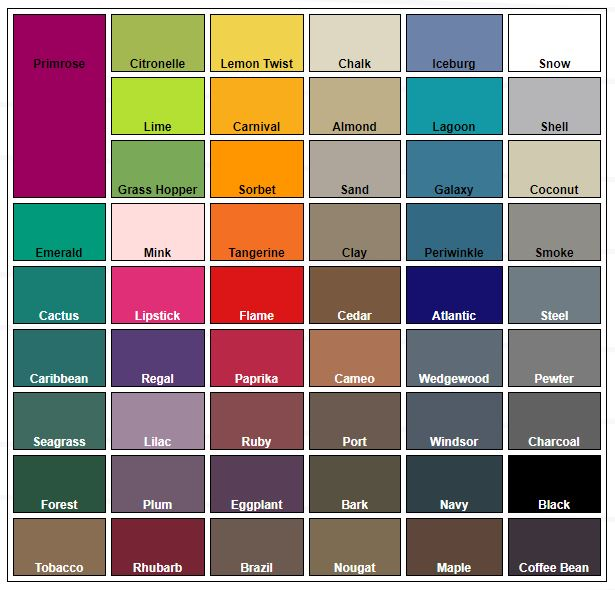 Boat Seat Vinyl Colours