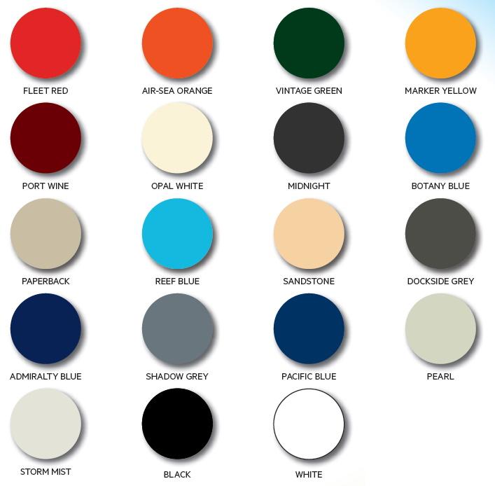 Norglass Paint Colour Chart - Northane