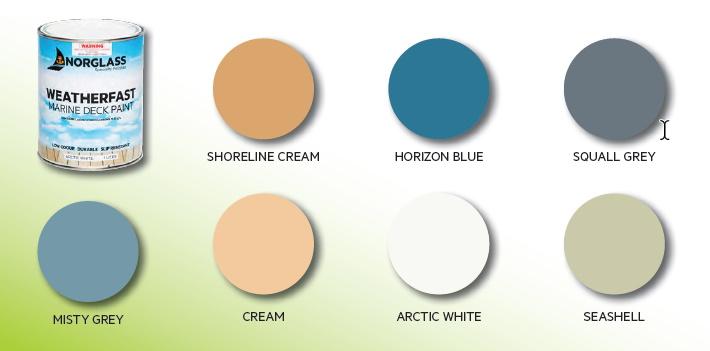 Norglass Weathershield Deck Paint Colour Chart