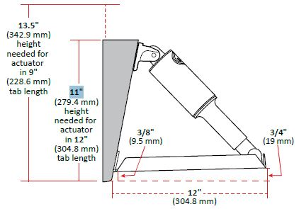 Trim Tab Kits Edge Mount