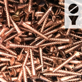 Silicon Bronze Screws -  6-Gauge Slotted Flat Head