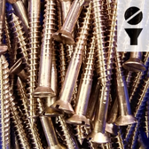 Silicon Bronze Screws -  12-Gauge Slotted Flat Head