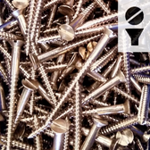 Silicon Bronze Screws -  8-Gauge Slotted Flat Head