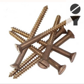 Silicon Bronze Screws -  14-Gauge Slotted Flat Head