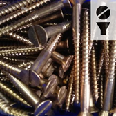 Silicon Bronze Screws -  16-Gauge Slotted Flat Head