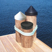 Dock Edge Piling Caps - Cone Head - Black
