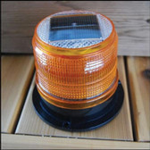 Dock Edge Amber Marker Light - Solar LED
