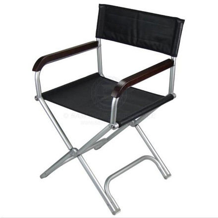 Relaxn Folding Deck Chair Alloy - Black