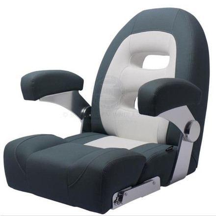 Relaxn Cruiser Series Seat High Back White/Dark Grey Crosshatch
