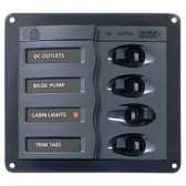 BEP 'Contour' Circuit Breaker Panel - 4 Circuits 127mm x 115mm
