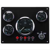 KUS Gauge Panel - Four Gauges with Alarm - 12V