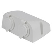 Dual Cigarette Power Socket - White