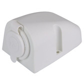 Single Cigarette Power Socket - White