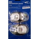 BLA Navigation Lights - LED Side Mount Stainless Steel (Pair)