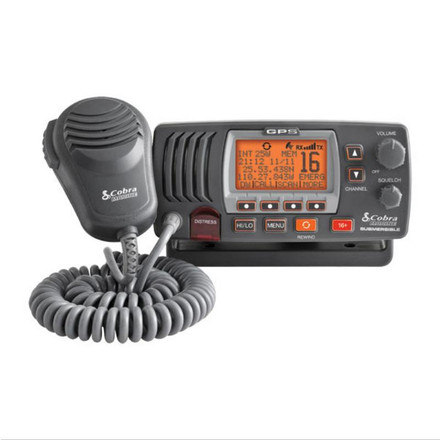 Cobra Marine VHF Radio - Class-D Fixed Mount With GPS