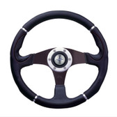Luisi Steering Wheel - Orion Three Spoke Aluminium - Black/black