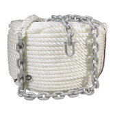BLA Nylon Anchor Rope & Chain - Galvanised - 10mm Rope Diameter