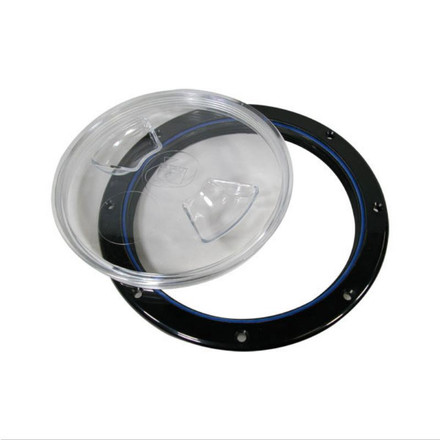Inspection Port - Polypropylene ABS - Black with Clear Centre Cover