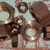 Silicon Bronze Hex Nuts - UNC Thread -Finished