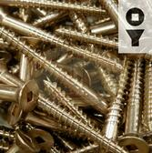 Silicon Bronze Screws - 16-Gauge Square Drive Flat Head