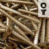 Silicon Bronze Screws - 14-Gauge Square Drive Flat Head