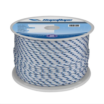 Polyester Yachting Braid - Australian Made - Blue Fleck
