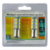 RELAXN 18 LED 5050SMD BA15S Replacement Bulb Twin Pack (Pair)