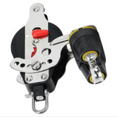 Riley Block Hard-coat Anodised Aluminium Ratchet Single Beckett & Cam Cleat - Port (950 Series)