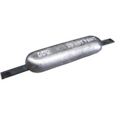 Aluminium oblong block anodes with steel strap