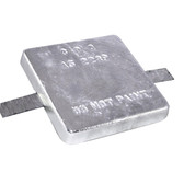 Aluminium square block anodes with steel strap