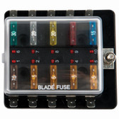 Viper Pro Series Marine Fuse Holder 10 Gang with LED Light Indicator