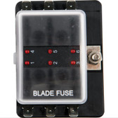 Viper Pro Series Marine Fuse Holder 6 Gang with LED Light Indicator