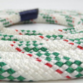 Newport Double-Braided Polyester Rope - 6mm Red/Green Fleck (per metre)