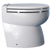 Hydrovacuum toilet system low head bevelled