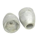 Aluminium propeller anodes